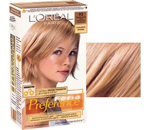 Краска для волос лореаль преферанс палитра