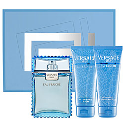 Versace men Eau Fraiche Набор: Туалетная вода 50 мл.+ Гель д/душа 50 мл.+ Бальзам п/бритья 50 мл.