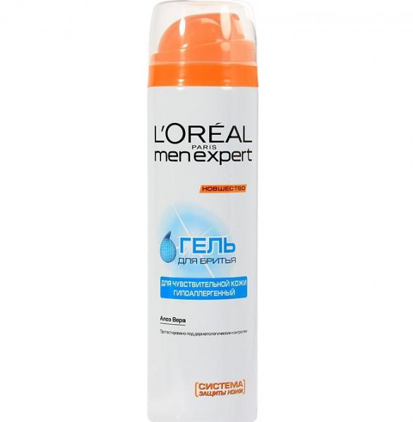 Loreal Men Expert Гидра Сенситив Гель для бритья для чувствительной кожи 200 мл.