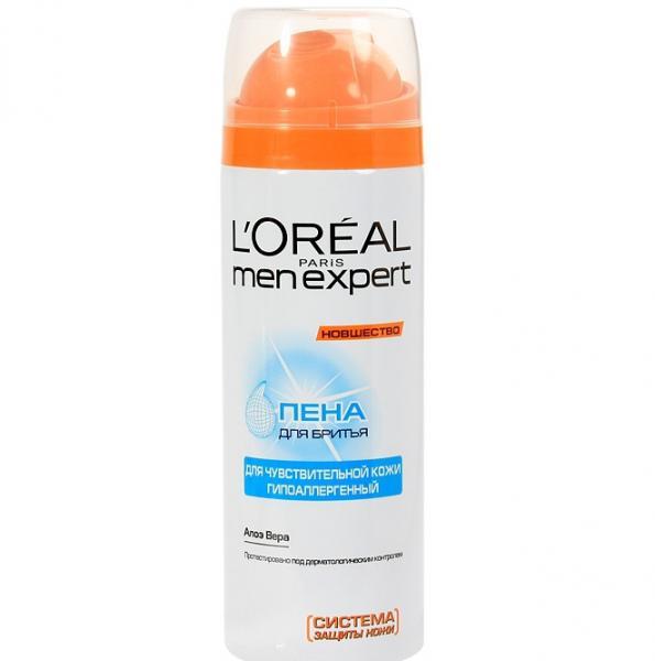 Loreal Men Expert Гидра Сенситив Пена для бритья для чувствительной кожи 200 мл.