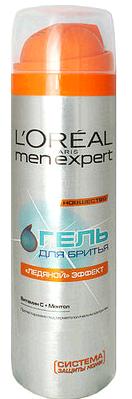 """Loreal Men Expert Гель для бритья """"ледяной эффект"""" 200 мл."""