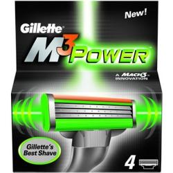 Gillette (P&G) Gillette Mach 3 Power Кассеты для станков мужские 4 шт.