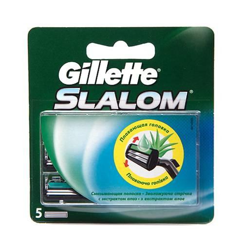 Gillette (P&G) Gillette Slalom Кассеты для станков со смазывающей полоской мужские 5 шт.