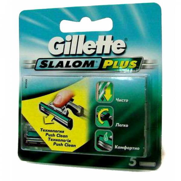 Gillette (P&G) Gillette Slalom Plus Кассеты для станков со смазывающей полоской мужские 5 шт. + 1 бесплатно