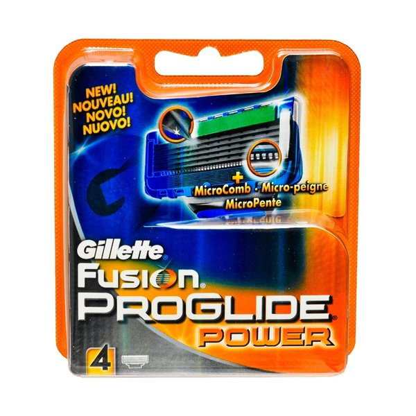 Gillette (P&G) Gillette Fusion Proglide Power Кассеты для станков мужские 4 шт.