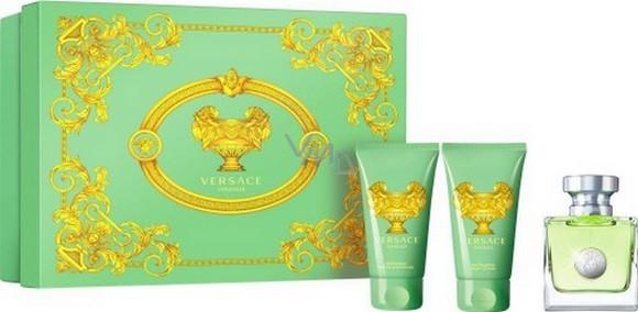 Versace woman Versense зеленый Набор: Туалетная вода 50 мл. + Лосьон д/тела 50 мл.+гель д/д 50 мл
