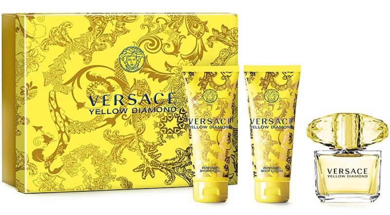 Versace woman Yellow Diamond Набор: т.в. 50 мл. + Лосьон д/тела 50 мл. + Гель д/душа 50 мл