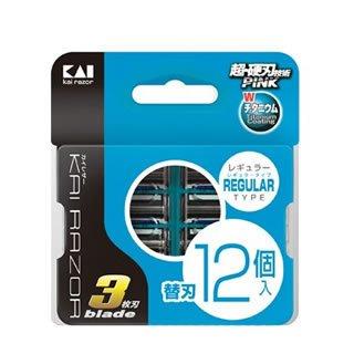 Kai Regular Запасные лезвия универсальные для безопасной бритвы - 3 лезвия в кассете (12шт.в уп.)