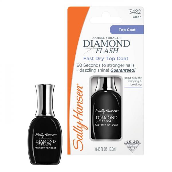 Sally Hansen Diamond Flash Fast Dry Top Coat Быстросохнущее верхнее покрытие для ногтей
