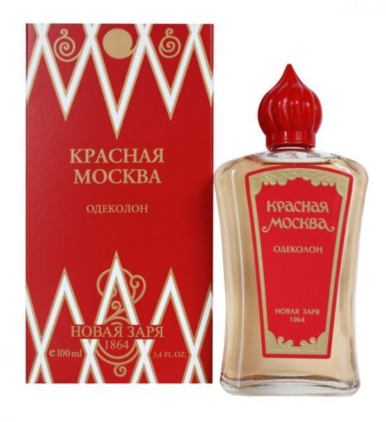 Новая Заря men (cologne) Красная Москва Одеколон 100 мл. (в футляре)
