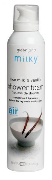 Greenland Milky Мусс для душа 200 мл. рисовое молочко-ваниль