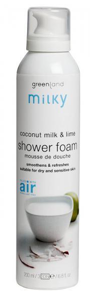 Greenland Milky Мусс для душа 200 мл. молочко кокоса-лайм