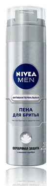 Nivea Men Серебрянная Защита Пена для бритья 200 мл.