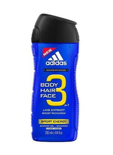 Adidas men Hair & Body 3 Sport Energy Шампунь - гель для душа 250 мл.