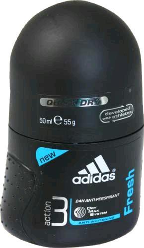 Adidas men (deo-rol) Action 3 Dry Max Fresh Дезодорант-роликовый 50 мл.