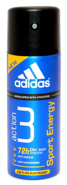 Adidas men (deo) Action 3 Dry Max Sport Energy Дезодорант 150 мл.