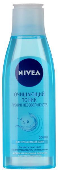 Nivea Pure Effect Очищающий тоник для лица Против Несовершенств 200 мл.