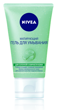 Nivea Aqua Effect Матирующий гель для умывания для склонной к жирности кожи 150 мл.