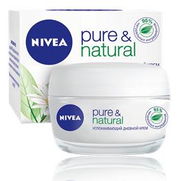 Nivea Pure & Natural Успокаивающий дневной крем для сухой и чувствительной кожи 50 мл.