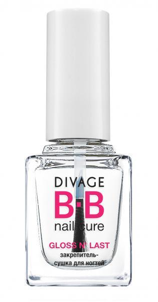Divage Gloss N'last Быстросохнущее верхнее покрытие для ногтей