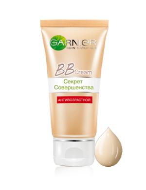 Garnier Bb Cream Секрет Совершенства Крем 5в1 антивозрастной 50 мл. светло-бежевый