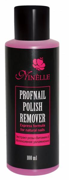Ninelle Profnail Жидкость для снятия лака с витамином Е и экстрактом розы 100 мл.