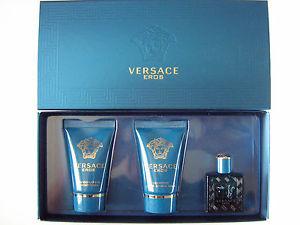 Versace men Eros Набор: Туалетная вода 5 мл. + Гель для душа 25 мл. + Бальзам п/бритья 25 мл.