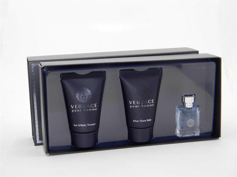 Versace Pour Homme Набор: Туалетная вода 50 мл. + Бальзам после бритья 50 мл. + Шампунь 50 мл.