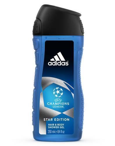 Adidas men Uefa Champions League Edition Гель для душа для тела и волос 250 мл.