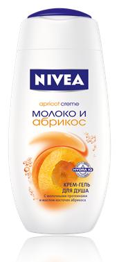 Nivea Молоко И Абрикос Крем-гель для душа 750 мл.
