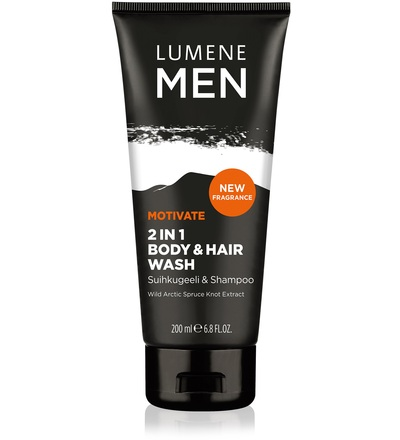 Lumene Skin Care Средство 2 в 1: шампунь и гель для душа Motivate 200 мл.