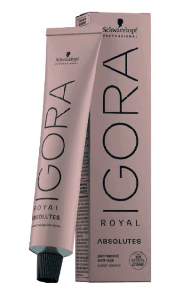 Schwarzkopf Professional Igora Royal Absolutes Крем-краска для волос №4-80 ср. кор. красн. натур.