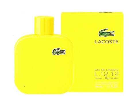 Lacoste men L.12.12. Jaune Optimistic Туалетная вода 50 мл. желтый