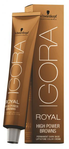 Schwarzkopf Professional Igora Royal High Power Browns Краска для волос №в-3 коричневый матовый