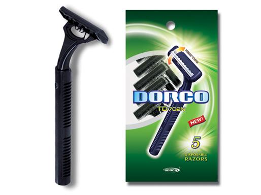 Dorco Swing Одноразовый станок для бритья с 2 лезвиями мужской (td 702-5p) 5 шт.