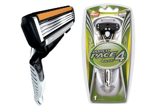 Dorco Pace4 Станок для бритья с 4 лезвиями, 1 кассета, мужской (fra1100+1s)