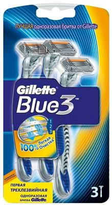 Gillette (P&G) Gillette Blue 3 Станок для бритья одноразовый 3 шт.