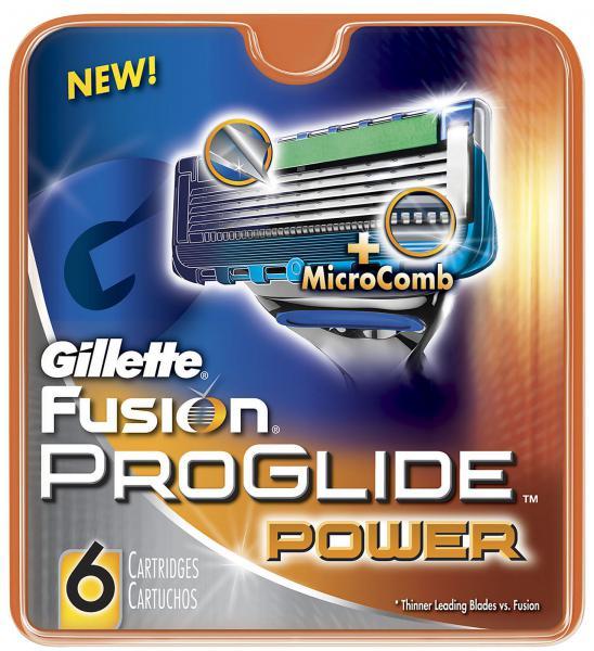 Gillette (P&G) Gillette Fusion Proglide Power Кассеты для станков мужские 6 шт.