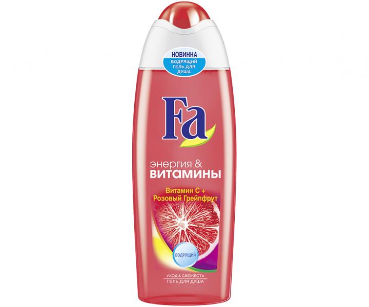 Fa Энергия&витамины Гель для душа с витамином С и розовым грейпфрутом 750 мл.