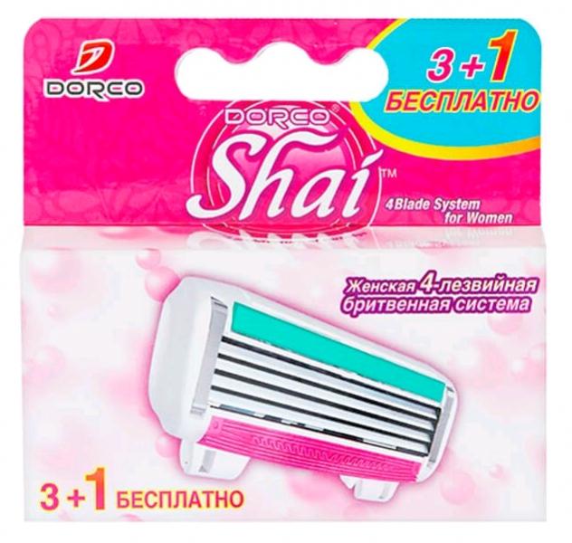 Dorco Shai Reina Кассеты для бритья с 4 лезвиями женские (fra A2040) 3+1 шт.