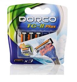 Dorco Tg-ii Plus Кассеты для бритья с 2 лезвиями с открытой архитектурой мужские (tna3030) 3 шт.