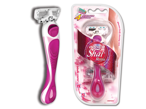 Dorco Shai Reina Станок для бритья с 4 лезвиями, 2 кассеты, женский (fra 2000)