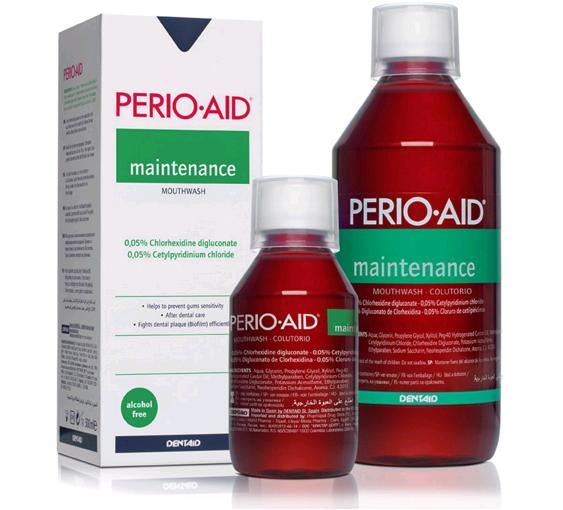 Dentaid Perio-aid Maintenance Ополаскиватель для полости рта с хлоргексидином 0,05% 150 мл.