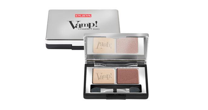 Pupa Vamp! Compact Duo Двойные компактные тени 2г. №001 розовый жемчуг
