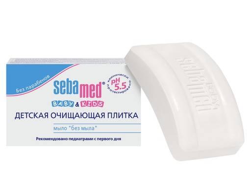 """Sebamed Baby & Kids Детская очищающая плитка мыло """"без мыла"""" 100 г."""