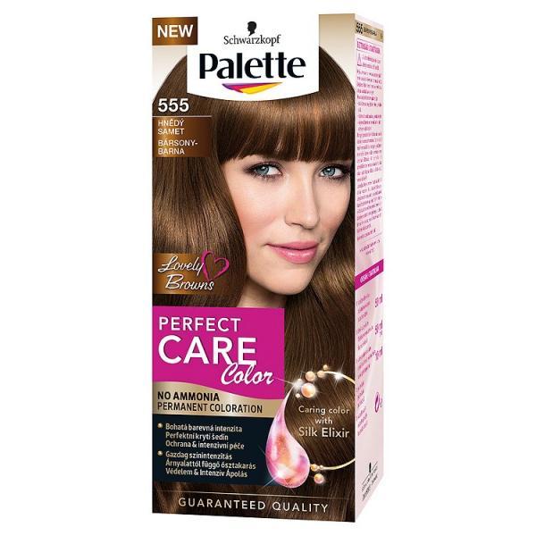 Schwarzkopf Palette Perfect Care Стойкая крем-краска для волос №555 молочный шоколад