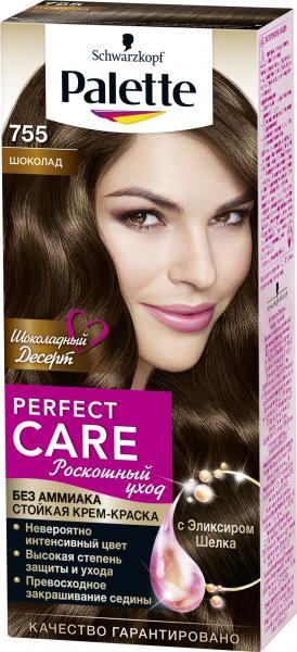 Schwarzkopf Palette Perfect Care Стойкая крем-краска для волос №755 шоколад