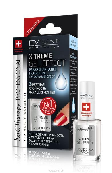 Eveline Nail Therapy Professional Закрепляющее лаковое покрытие x-treme gel effect top coat 12 мл