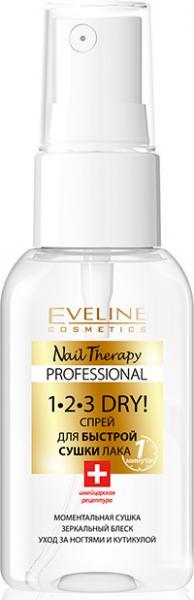 Eveline Nail Therapy Professional Спрей для быстрой сушки лака 1-2-3 dry 30 мл.
