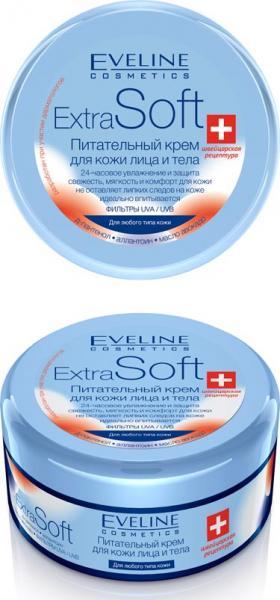 Eveline Extra Soft Питательный крем для кожи лица и тела 200 мл.